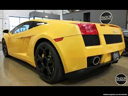 yellow and black lamborghini 2004 lamborghini gallardo yellow black 6 speed manual w 21k miles