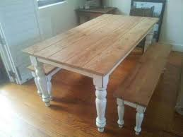 Rustic Dining Tables With Benches The 25 Best Pine Dining Table Ideas On Pinterest Pine Table