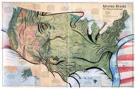 map us landforms the map that flu cartagram