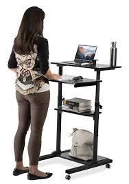 Standing Computer Desks by Mount It Mobile Stand Up Desk Height Adjustable Computer Work