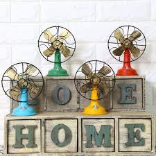 Retro Vintage Home Decor 2018 Shabby Chic Fan Model Vintage Home Decor Resin Crafts Retro