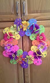 flip flop wreath flip flop wreath wreaths swags door arrangements