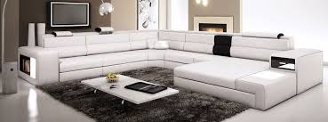 White Italian Leather Sectional Sofa White Contemporary Italian Leather Sectional Sofa