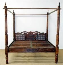 letto baldacchino letto a baldacchino testata intagliata in legno massello or037