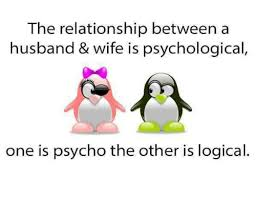 Wife Husband Meme - the relationship between a husband wife is psychological one is
