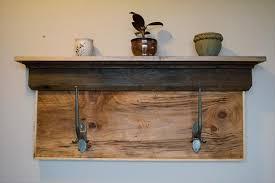 diy rustic pallet shelf and coat rack 101 pallets