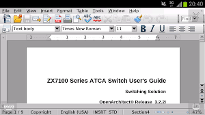 openoffice for android andropen office openoffice for android andropen office 1 4