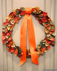 autumnal wreath martha stewart