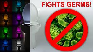 toilet light illumibowl anti germ toilet night light u0026 2x battery life by