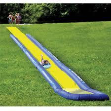 the world u0027s longest backyard water slide hammacher schlemmer