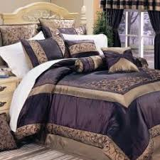 Overstock Com Bedding Ventura Eggplant Full Size 20 Piece Bed In A Bag Set Overstock