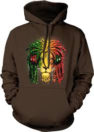 Lion Flag Jamaican Lion Flag Dread Locks Jamaica Pride Olympics Hoodie