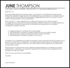 Electrical Supervisor Resume Sample Cover Letter For Supervisor
