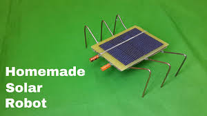 how to make a homemade solar powered robot toy very easy youtube