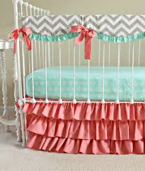 Teal Crib Bedding Set Sweet Sorbet Coral Baby Bedding Lottie Da Baby
