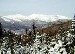 mount washington in winter on a clear day picture of