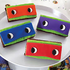 teenage mutant ninja turtles mask brownies party