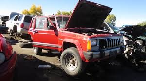 red jeep cherokee xj jeep cherokees still pouring into colorado wrecking yards autoweek