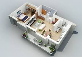 Apartment Designs Shown With Rendered D Floor Plans - Apartment layout design