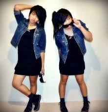 justhine n denim jacket black dress black high tops