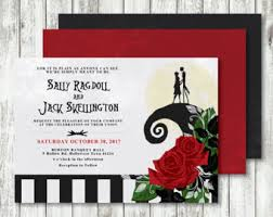 nightmare before christmas wedding invitations nightmare before etsy