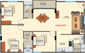 Vastu Floor Plans North Facing 1325 Sq Ft 3 Bhk 2t Apartment For Sale In Purva Mithra Apurva