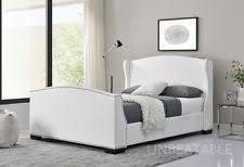 White Wooden Sleigh Bed Wooden Sleigh Bed Ebay