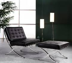 modern black leather