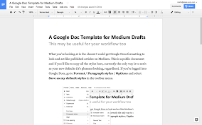 a google docs template for medium writers u2013 15 minutes in the morning