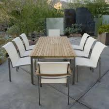 Teak Stainless Steel Outdoor Furniture by Stainless Steel Outdoor Dining