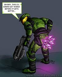 Funny Halo Memes - fear the pink mist halo know your meme