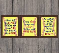 printable sports quotes softball quotes softball gift instant download high school