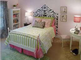 zebra print headboard for small bedroom layout with pink color