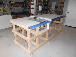 how to build a table saw workstation table saw work station with homemade t square fence part 1