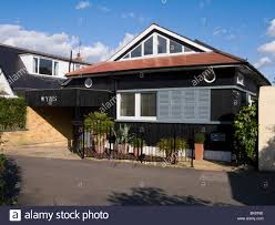 chalet style bungalow of a contemporary design surrey uk stock
