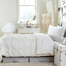 White And Gray Bathroom by White Kiss Pleat Premium Twin Xl Comforter Dorm Bedding And Bath