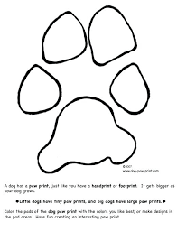 paw print coloring pages beautiful paw print coloring pages in