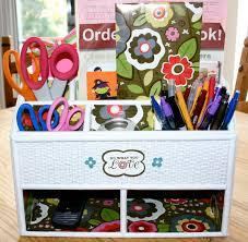 chic pencil holder desk accessories in simply white design