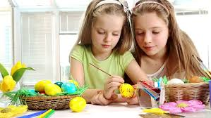 Easter Egg Decorating Videos by Children Paint Easter Eggs At Home Stock Footage Video 6020063