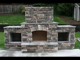 Fake Outdoor Fireplace - diy building an outdoor fireplace youtube
