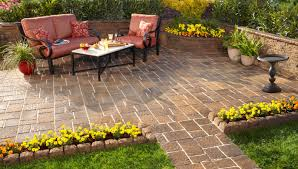 Cost Paver Patio Patio Menu On Home Depot Patio Furniture With Best Paver Patio