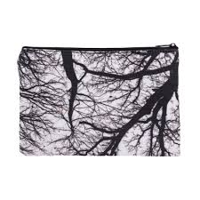 2018 wholesale trees black 3d printing square cosmetic bag 2016