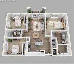 Apartement Delightful 3 Bedroom Apartment Floor Plans 3d Small 2 Story House Plan 3d
