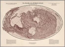 Map Of World Oceans by Floor Of The World Ocean David Rumsey Historical Map Collection