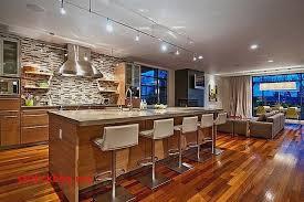 cuisine ouverte avec ilot central idee deco salon cuisine ouverte pour idees de deco de cuisine luxe