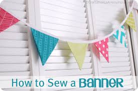 how to sew a bunting buntings banners and fabrics
