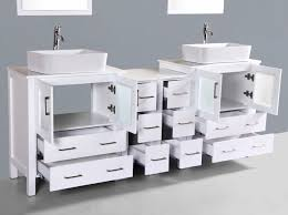 contemporary 84 inch white rectangle vessel sink bathroom
