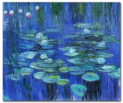blue lilies blue water lilies monet paintings canvas paintings