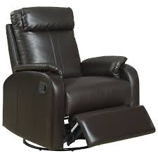 real leather swivel recliner chairs contemporary bonded leather swivel recliner dark brown