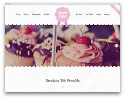 sweet cake bakery wordpress theme vintage web pinterest
